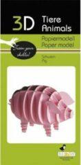 Fridolin 3D puzzel en bouwpakket karton model varken