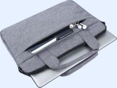 MoKo H321 Laptop Schoudertas opbergvakken 15.4 inch Notebook Tas - Hoes Multipurpose voor Macbook Sleeve Bag Travel Aktetas voor HP DELL Xiaomi - grijs