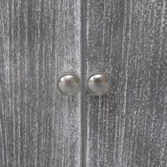 VidaXL Badkamerkast 46x24x116 cm paulowniahout wit en grijs