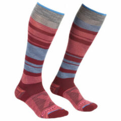 Ortovox - Women's All Mountain Long Socks - Wandelsokken maat 35-38, rood/roze/grijs