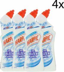 Harpic Toiletreiniger Gel Bleek Javel - 4 x 750 ml