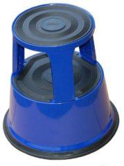 Blauwe Desq Galantha opstapkruk - Blauw - Metaal - Hoogte 42,6 cm