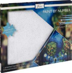 Nassau Fine Art Schilderen op nummer volwassenen | Midnight Walk | Canvas 40 x 50 CM |24 soorten acryl verf |Hobby | Creatief