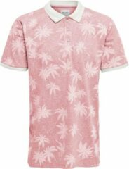 Roze Only & Sons 10201921 Heren Poloshirt Maat M
