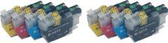 KATRIZ® huismerk inkt voor|Brother 2x LC3213XL zwart+ 2x LC3213XL Cyaan + 2x LC3213XL Magenta +2x LC3213XL Yellow | (8stuks) - Met chip