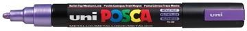 Afbeelding van Paarse Creativ company Uni Posca Marker, lijndikte: 2,5 mm, PC-5M , metallic violet, medium, 1stuk