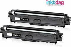 Inktdag huismerk compatibel toner cartridge voor Brother TN-241 TN-242 voor MFC-9332CDW DCP-9022CDW HL-3142CW MFC-9142CDN HL-3152CDW MFC-9140CDN MFC-9342CDW DCP-9017CDW 9020CDW HL-3140CW (2 Zwart)