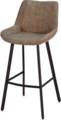 Möbel Ideal Barhocker DARU I mit Metallbeinen 2er Set in Grau / Schwarz