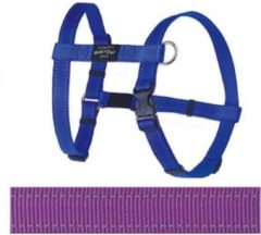 Paarse Rogz For Dogs Fanbelt Hondentuig - Paars - 20 mm x 45-75 cm