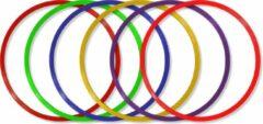 Paarse MD Sport   Hoepelset van 6 hoepels diameter 60cm   Turnhoepels   Schoolpleinhoepels