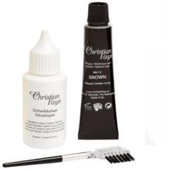 Bruine Christian Faye Eyelash & Eyebrow Dye Wenkbrauw- en wimperverf 3 st