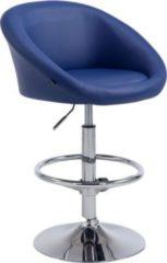 CLP Barhocker MIAMI V2 mit hochwertiger Polsterung und Kunstlederbezug I Höhenverstellbarer Barstuhl mit Rückenlehne I Tresenstuhl mit drehbarem Sitz
