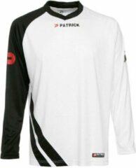 Patrick Victory Voetbalshirt Lange Mouw - Wit / Zwart | Maat: XXL