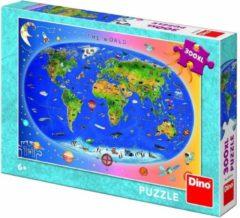 Dino Toys Puzzel Wereldkaart 300 XLstukjes