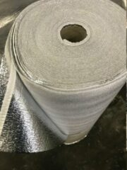 Zilveren Merkloos / Sans marque Ondervloer alufoam 4mm -25m² rol voor laminaat en parket