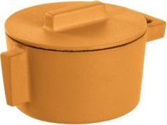 Gele Sambonet ronde braadpan gietijzer vanilla, 10cm