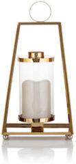 Flambiance Edelstahl-Laterne mit LED-Stumpenkerze