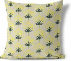 We Maqe sierkussen Exotic Palm beige 45x45 cm