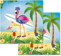 Partywinkel Hawaii Servetten Flamingo 33x33cm 20 stuks