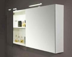 Royal Plaza Mackin spiegelkast 90cm met 2 deuren zonder verlichting wit 90881