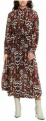 ONLY semi-transparante jurk ONLELOISE met all over print ecru/rood