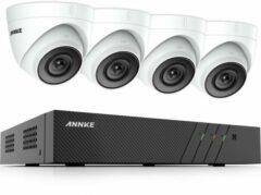 Witte Eve Audio ANNKE ACS-8 N48-I51DM-4 Beveiligingscamera set - PoE - 5MP - Met audio