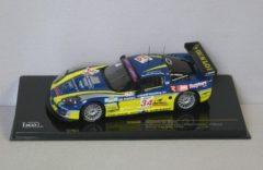 Blauwe Chevrolet Corvette C6-R #34 FIA GT 24h SPA 2006 1:43 IXO Models Blauw / Geel GTM060