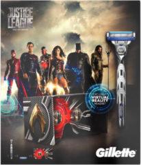 Gillette Mach3 Turbo - Justice League Geschenkset (Scheermes + 2 Scheermesjes + Virtual Reality Hoofdtelefoon) - Scheermes