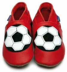 Rode Inch Blue Babyslofjes football red maat 5XL (20 cm)