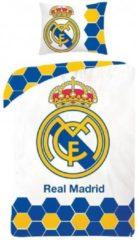 Blauwe Real Madrid CF Real Madrid dekbedovertrek - eenpersoons met 1 kussensloop - 100% katoen