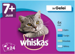 Whiskas Senior Multipack Vis in Gelei 24 x 100 gr