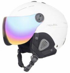 Bergfreunde.de - Ski Helm R310 Republic - Skihelm maat 60-62 cm wit/zwart/grijs