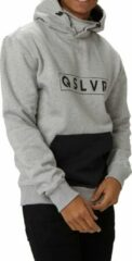Quiksilver big logo tech fleece trui grijs heren