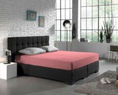 Zachte Dubbel Jersey Extra Breed Hoeslaken Roze   190/200x200/210/220/230   220 gr/m2 Dichtgebreid   Comfortabel
