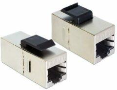 Zilveren DeLOCK 86204 RJ45 RJ45 Zwart, Zilver kabeladapter/verloopstukje