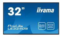 Iiyama ProLite LE3240S-B1 - 81.3 cm (32'') Klasse (80 cm (31.5'') sichtbar) LED-Display LE3240S-B1