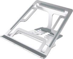 Zilveren Adella Laptopstandaard Verstelbaar en Opvouwbaar - tot 17 inch - Lichtgewicht Aluminium - Ergonomisch