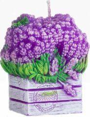 Paarse SmuldersDeco Violet lavendel in krat geurkaars 110/100/70 (20 uur)