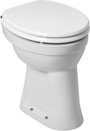 Afbeelding van Witte Praya Sanit Staande verhoogde toiletpot 45 5cm AO exclusief zitting wit 36.3580
