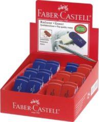 Faber Castell Gum Faber-Castell SLEEVE MINI rood/blauw assorti