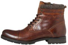 JACK & JONES Leather Boots Men Brown