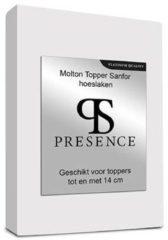 Presence Presence Molton Sanfor Topper Hoeslaken - Platinum - Maat: 14