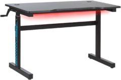 Beliani Game bureau met RGB LED zwart DURBIN
