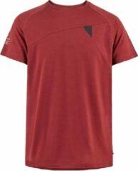 Klättermusen T-shirt Heren Tencel/merinowol/elastaan Rood Maat S
