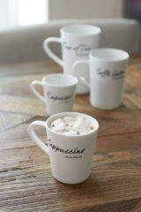 Witte Riviera Maison Rivièra Maison Classic Cappuccino Mug - Capuccinomok - Wit