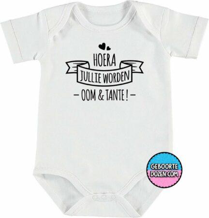 Afbeelding van Merkloos / Sans marque Romper - Hoera jullie worden oom & tante ! - maat 62/68 - korte mouwen - baby - baby kleding jongens - baby kleding meisje - rompertjes baby - rompertjes baby met tekst - kraamcadeau meisje - kraamcadeau jongen - zwanger - stuks 1 -