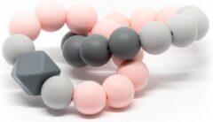 Roze Bijtring Double Lalieloe - Bijtspeelgoed - Kraamcadeau - Koel bijtring - Lot