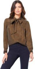 Bruine Creation L blouse met lange mouwen