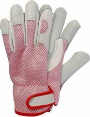 Talen Tools Werkhandschoenen geitenleer roze maat L
