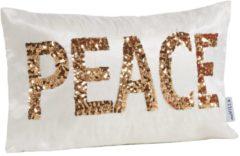 Kissenhülle Peace miaVILLA weiß/goldfarben